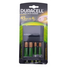 Duracell CEF14 45min AA/AAA Charger w/ 2xAA and 2xAAA Batteries