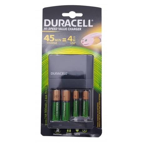 Duracell CEF14 45min AA/AAA Charger w/ 2xAA and 2xAAA Batteries