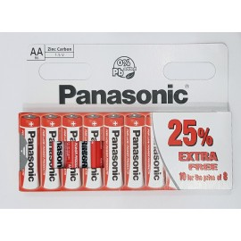 30 x AA Genuine PANASONIC Zinc Carbon Batteries - New LR06 1.5V MX1500 05/2021