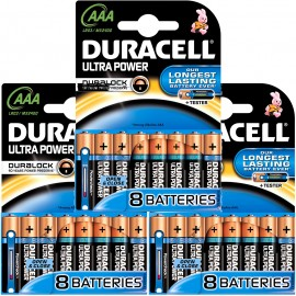 24x Duracell Ultra Power Duralock AAA Alkaline 1.5v LR03 MX2400 - POWERCHECK