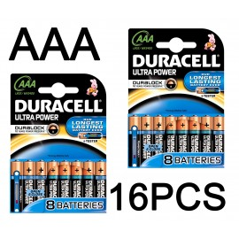 Duracell Ultra Power Duralock AAA 16 Pack Alkaline 1.5v LR03 MX2400 - POWERCHECK