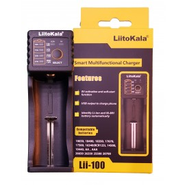 LiitoKala Smart Charger Lii-100 Intelligent 18650 16340 USB PowerBank Charger