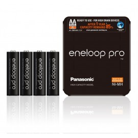 4 Pack NEW Panasonic Eneloop PRO AA 2500mAh HR6 NiMH Rechargeable Batteries