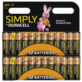 24x Duracell AA Power Alkaline Batteries Economy Pack LR6 MN1500 Long Exp