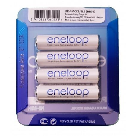 4 Pack NEW Panasonic Eneloop AAA 750mAh HR3 NiMH Rechargeable Batteries