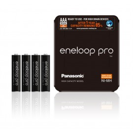 4 Pack NEW Panasonic Eneloop PRO AAA 930mAh HR3 NiMH Rechargeable Batteries