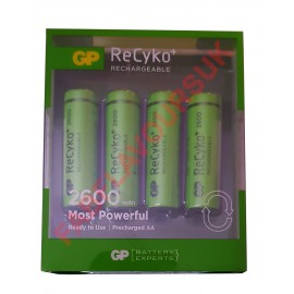 GP ReCyko+ Rechargeable 2600mAh NiMH AA 1.2v Batteries - 4 Pack