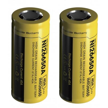 Nitecore NI26650A 26650 4200mAh High Drain IMR Li-Mn 3.7v Rechargeable Battery