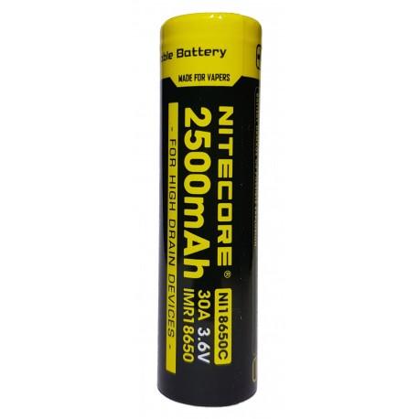 Nitecore NI18650C 30A 2500mAh High Drain IMR Li-Mn 3.6v Rechargeable Battery