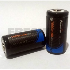 AloneFire BR 16340 1000mAh 3.6v IMR Rechargeable Batteries